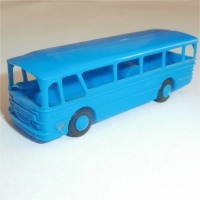 Airport Bus front view Blue