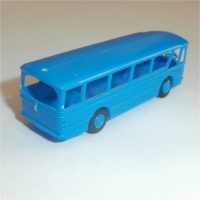 Airport Bus rear view Blue