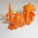 Camel Train Engine  (Orange) R&L Cereal Toy