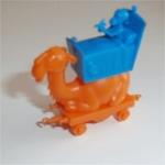 Camel Train Sleeping Wagon (Orange) R&L Cereal Toy