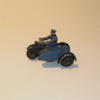 Dinky 43b RAC Patrol motorcycle & sidecar