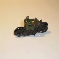 Dinky 37a Motorcycle and Civilian rider