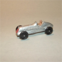 Dinky Toys 35b Racing Car Silver #1