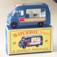 Matchbox 1-75 47b Icecream blue