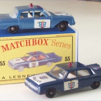 Matchbox 1-75 55b Police car