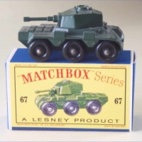 Matchbox 1-75 67a Saladin Armoured Car