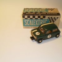 Scalextric C76 Mini Cooper Green #2